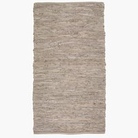 Rug KEJSERKRONE leather 65x120 grey