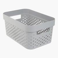 Korb INFINITY 4,5L Plastik grau