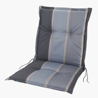 Coussin chaise à dossier haut AKKA gris