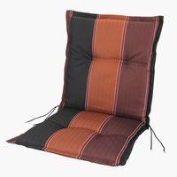 Coussin chaise à dossier haut AKKA rouge