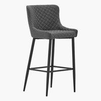 Barska stolica PEBRINGE sa naslonom siva
