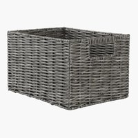 Korb CASPERSEN B20xL26xH16cm grau