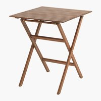 Bistro table EGELUND W62xL62 hardwood