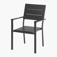 Stacking chair FALKERSLEV black