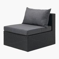 Lounge AJSTRUP mittmodul svart