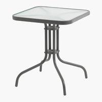 Tavolo da bistrot LARISSA P60xL60 grigio