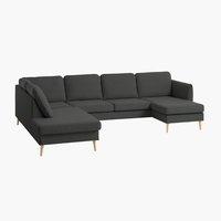 Sofa AARHUS Ecke links dunkelgrau