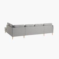 Γωνιακός καναπ. AARHUS δεξ.ζεστό γκρι