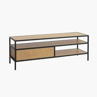 Mueble TV TRAPPEDAL roble/negro