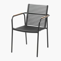 Stacking chair NABE black/nature