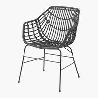 Καρέκλα ILDERHUSE μαύρο