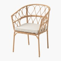 Chaise empilable JENNUM naturel