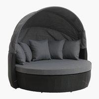 Lounge sofa FINNSNES 4 os. crna