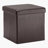 Pouf LADELUND 40x40 contenitore marrone