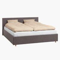 Ліжко EGERSUND 140x200см т.сірий