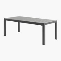 Table MIAMI XXL 95x205/275 gris