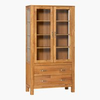 Display cabinet HAGE 2 door 2 drw oak
