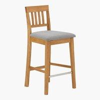Chaise de bar HJERTING gris