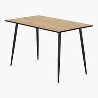 Table HORBELEV 70x120 chêne/noir