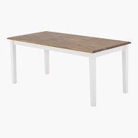 Mesa jantar WIEN 85x180 branco/castanho