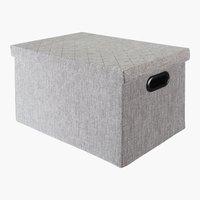 Caja ALINA A27xL37xA22cm gris
