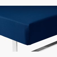 Fitted sheet SGL blue KRONBORG