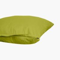 Funda almohada satén 45x75 verde claro