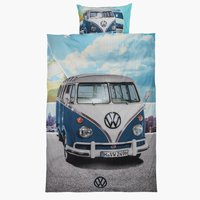 Bettwäsche VW BULLY 135x200 blau