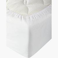 Lenzuolo con angoli 180x200x25cm bianco