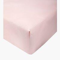 Lenzuolo in raso 150x280cm rosa cipria