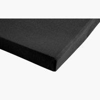 Jersey-Spannleintuch 140/160x200 schwarz