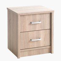 Noční stolek EVETOFTE 2 zásuvky dub