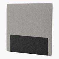 Sengegavl H30 CURVE 120x125 grå-21