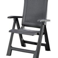 Cadeira reclinável LIVORNO cinzento esc