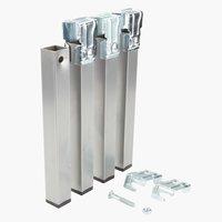 Pernas L3xA25xP3cm metal conj de 4