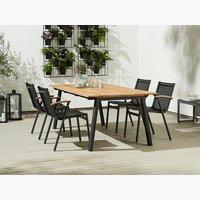 Miza BARSMARK D210+4 stoli SADBJERG
