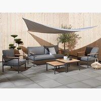 Set muebles jardín ODDESUND 5 pers gris