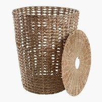 Laundry basket CURT D40xH55cm w/lid