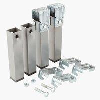 Pieds de lit l3xH15xP4cm métal lot de 4