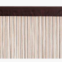 Provázková záclona NISSER 90x245 hnědá