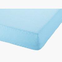 Drap-housse 90x200x28cm bleu clair
