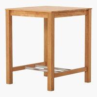 Table de bar FAUSKE 80x80 chêne