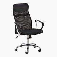 Chaise de bureau LEON noir
