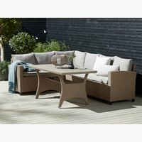Loungeset ULLEHUSE 6 pers. opberg natur