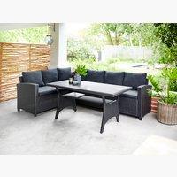 Lounge-Set ULLEHUSE 6 Pers. schwarz