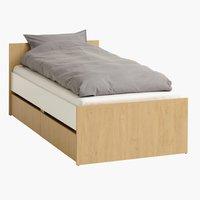 Ліжко BILLUND 90x200 білий/дуб