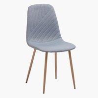 Dining chair JONSTRUP light blue/oak