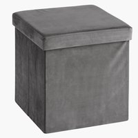 Pouffe AUNING 38x38 velvet grey