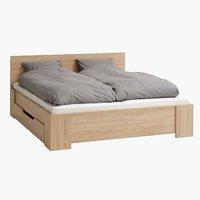 Estrutura cama HALD 180x200 carvalho cl