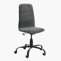 Chaise de bureau SEJET haute gris foncé